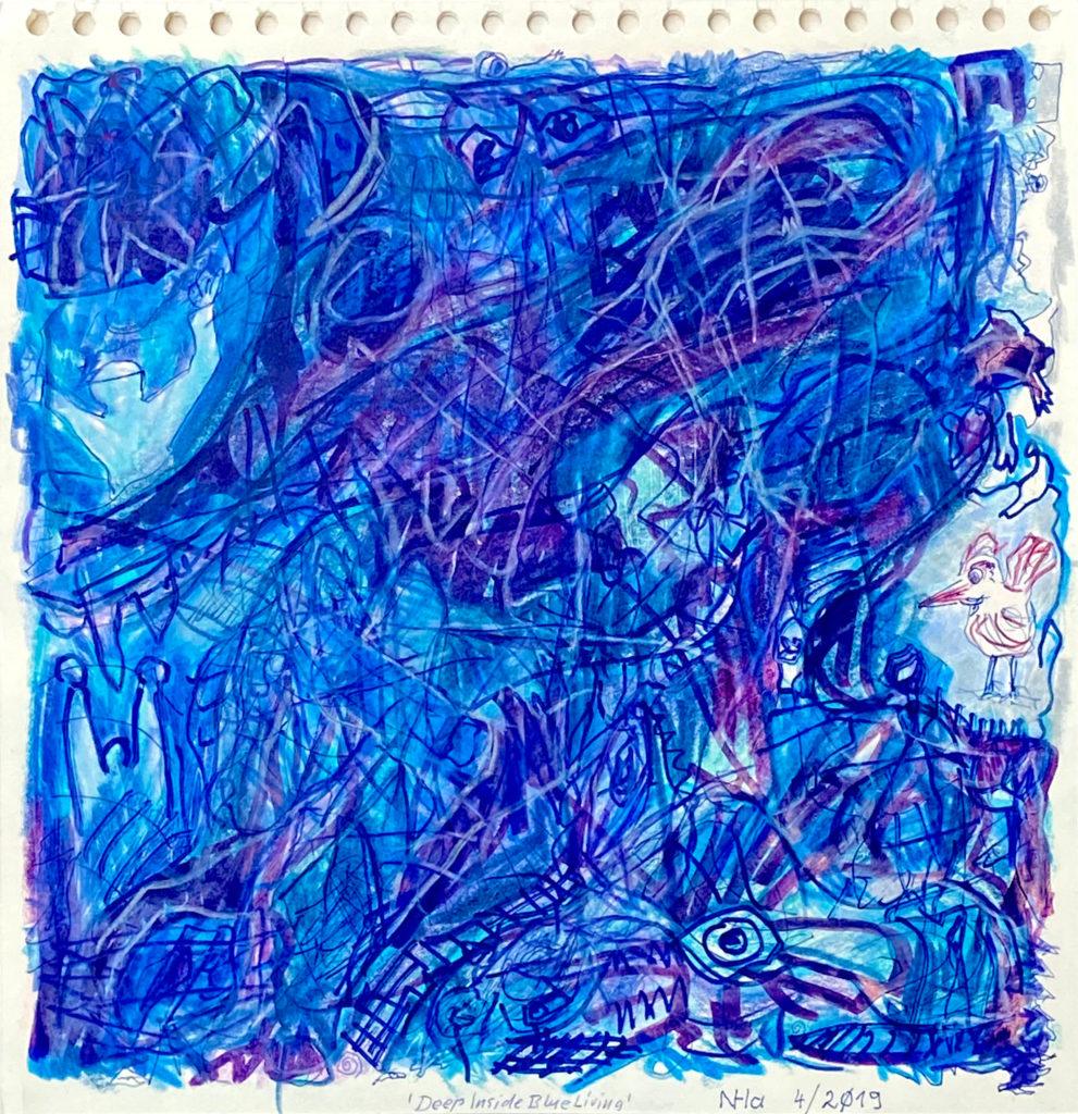 Deep Inside Blue Living